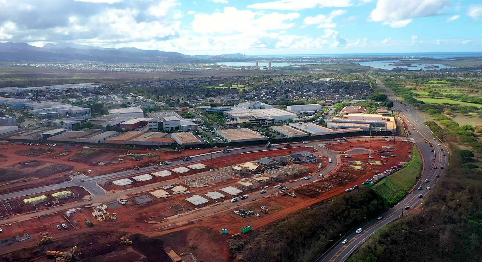 August Koa Ridge Construction Aerial